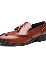 cheap -Men's Summer / Fall Classic / Casual Daily Office & Career Loafers & Slip-Ons Faux Leather Non-slipping Wear Proof Black / Brown / Tassel