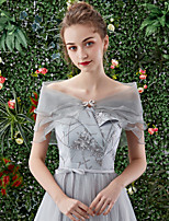 cheap -Short Sleeve Shawls Organza Wedding / Party / Evening Shawl & Wrap With Solid / Crystal Floral Pin