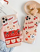cheap -Retro cherry bear letters couples cute Phone case for iPhone 11 Pro MAX se 2020 X XS XR case silicone cover For iPhone 7 8 Plus Case