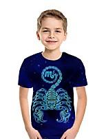cheap -Kids Boys' Street chic 3D Short Sleeve Tee Blue