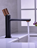 cheap -Brass Hot and Cold Basin Faucet Household Hot and Cold Wash Basin Single Handle Black Rose Gold Faucet