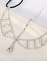 cheap -Women's Hair Jewelry For Gift Festival Flower Cord Imitation Diamond White 1pc
