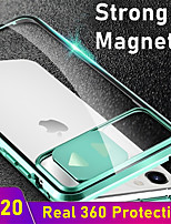 cheap -Magnetic Case for iPhone SE 2020 11 11 Pro 11 Pro Max X XS XR XS Max 8 8 Plus 7 7 Plus Adsorption Double Sided  Clear Tempered Glass 360 Protective Metal Cover