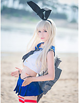 cheap -Inspired by Collection Shimakaze Anime Cosplay Costumes Japanese Outfits Top Dress For Women's