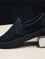 cheap -Men's Fall Casual Office & Career Loafers & Slip-Ons Canvas / PU Black / White / White / Black