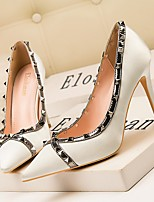 cheap -Women's Heels Summer Stiletto Heel Pointed Toe Daily PU Black / Blue / Silver
