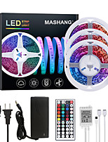 cheap -MASHANG 15M(3*5M) LED Strip Lights RGB Tiktok Lights 900LEDs Flexible Color Change SMD 2835 with 44 Keys IR Remote Controller and 100-240V Adapter for Home Bedroom Kitchen TV Back Lights DIY Deco
