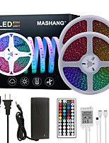 cheap -MASHANG Bright RGB LED Strip Lights 32.8ft 10M Waterproof RGB Tiktok Lights 1200LEDs SMD 5050 with 44 Keys IR Remote Controller and 100-240V Adapter for Home Bedroom Kitchen TV Back Lights DIY Deco