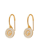 cheap -Women's Cubic Zirconia Earrings Coin Letter Sweet Cute Earrings Jewelry Gold For Party Daily Work Festival 1 Pair