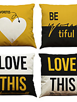 cheap -4 pcs Linen Pillow Cover Linen Pillow Case Car Pillow Cushion Sofa Pillow Pillow Office Nap Pillow