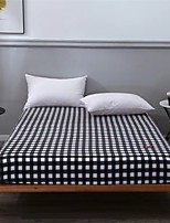 cheap -Grid Stripe Fitted Sheet Bedding /Wrinkle Fade Stain Resistant / 1 Single Fitted Sheet Only