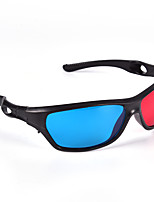 cheap -1PCS 3D Glasses Red Blue Black Frame for Dimensional Anaglyph TV Movie DVD Game Dvd Movies VR