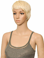 cheap -Synthetic Wig Straight Layered Haircut Wig Short Blonde Pink Black Synthetic Hair 10 inch Women's Women Synthetic Sexy Lady Blonde hairjoy