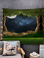 cheap -Home Living Tapestry Wall Hanging Tapestries Wall Blanket Wall Art Wall Decor Flower Moon Tapestry Wall Decor