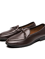 cheap -Men's Summer / Fall Business / Classic Party & Evening Office & Career Loafers & Slip-Ons Faux Leather Non-slipping Wear Proof Black / Brown