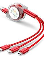Недорогие -многофункциональный кристалл 3 в 1 универсальный 5 передач регулировка быстрой зарядки кабель для передачи данных телескопический USB удлинитель для Xiaomi / Huawei / Iphone / Samsung