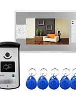 cheap -Wired 7 Inch Hands-free Video Doorphone with RFID Ulock Video Intercom