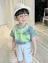 cheap -Kids Boys' Basic Tie Dye Short Sleeve Tee Green