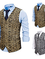 cheap -Plague Doctor Vintage Gothic Steampunk Masquerade Vest Waistcoat Men's Snakeskin Costume Golden / Silver Vintage Cosplay Event / Party Sleeveless