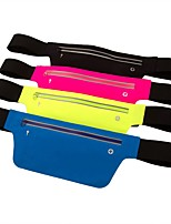 cheap -Running Belt Fanny Pack Belt Pouch / Belt Bag for Running Hiking Outdoor Exercise Traveling Sports Bag Adjustable Waterproof Portable Polyester Lycra® Men's Women's Running Bag Adults