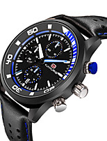 cheap -Men's Sport Watch Quartz Formal Style Modern Style Casual Water Resistant / Waterproof Leather Analog - Blue Red Green / Calendar / date / day / Noctilucent