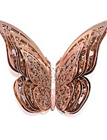 cheap -12pcs/set Rose Gold 3D Wall Stickers Butterfly Hollow Paper Butterfly Stickers For Wedding Birthday Home Room DIY Deco Baby Shower Supplie