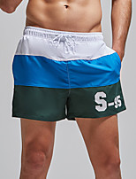 cheap -Superbody Men's Swim Shorts Bottoms Breathable Quick Dry Drawstring - Swimming Surfing Patchwork Autumn / Fall Spring Summer / Micro-elastic