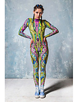 cheap -Zentai Suits Catsuit Skin Suit Ninja Adults' Cosplay Costumes Ultra Sexy Women's Novelty Printing Halloween Carnival Masquerade
