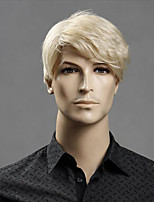 cheap -Synthetic Wig kinky Straight Pixie Cut Wig Short Light golden Synthetic Hair 12 inch Men's Fashionable Design Classic Synthetic Blonde