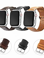cheap -Watch Band for Apple Watch Series 5 / Apple Watch Series 4 / Apple Watch Series 4/3/2/1 Apple Modern Buckle / Business Band Genuine Leather Wrist Strap