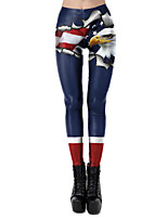cheap -Zentai Suits Pants Skin Suit Ninja Adults' Cosplay Costumes Ultra Sexy Women's Printing Halloween Carnival Independence Day / Leotard / Onesie