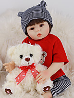 cheap -FeelWind 18 inch Reborn Doll Baby & Toddler Toy Reborn Toddler Doll Baby Boy Gift Cute Lovely Parent-Child Interaction Tipped and Sealed Nails Full Body Silicone LV013 with Clothes and Accessories
