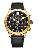 cheap -Unisex Sport Watch Quartz Modern Style Sporty Stainless Steel Titanium Alloy Black / Brown 30 m Water Resistant / Waterproof Calendar / date / day Stopwatch Analog Casual Outdoor - Gold Brown Black