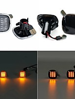 cheap -LED Side Marker Indicator Lights Lamps Black Smoked Yellow 2PCS For Audi Seat Skoda
