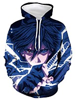 cheap -Inspired by Naruto Cosplay Costume Hoodie Terylene Print Printing Hoodie For Men's / Women's