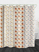 cheap -Funny Pumpkin  Digital Print Waterproof Fabric Shower Curtain for Bathroom Home Decor Covered Bathtub Curtains Liner Includes with Hooks