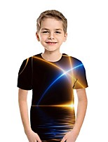 cheap -Kids Boys' Street chic Geometric Short Sleeve Tee White