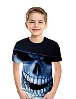 cheap -Kids Boys' Street chic Geometric Short Sleeve Tee Blue