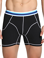 cheap -Men's Basic Boxers Underwear - Plus Size Low Waist Black Red Green M L XL