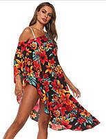 cheap -Women's Bikini Swimwear Swimsuit - Geometric One-Size Red