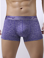 cheap -Men's Basic Boxers Underwear - Normal Mid Waist Black Blue Purple S M L