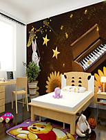 cheap -Art Deco Custom Self Adhesive Mural Ghost Festival Pumpkin Catching Star Rabbit Children Cartoon Style Suitable For Bedroom