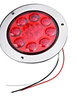 cheap -12V 4'' 12 LED Round Stop Brake Tail Lights Turn Signal Indicator Truck Trailer RV
