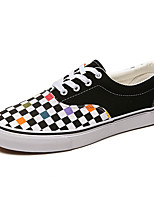 cheap -Men's Spring / Fall Classic / Casual / Vintage Daily Sneakers Canvas Non-slipping White / Black