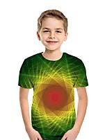 cheap -Kids Boys' Street chic 3D Short Sleeve Tee Green