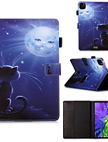cheap -Case For Apple iPad Pro 11 inch 2020 iPad Mini 3/2/1 / iPad Mini 4 with Stand / Flip / Pattern Full Body Cases Cat / Animal / Cartoon PU Leatherfor iPad5 iPad6 iPad 9.7 2018 2017