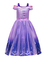 cheap -Frozen Princess Dress Cosplay Costume Girls' Movie Cosplay Halloween Christmas Purple Dress Christmas Halloween / Sleeveless