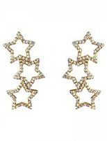 cheap -Women's Crystal Stud Earrings Hollow Out Star Trendy Sweet Earrings Jewelry Rainbow For Party Daily Bar Festival 1 Pair