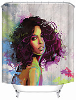 cheap -Symphony Fashion Girl Shower Curtains & Hooks Modern Polyester New Design