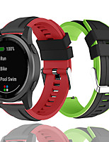 cheap -20mm 22mm Double Color Silicone Replacement Strap For Vivoactive 3 Forerunner 245M Forerunner 645 GarminActive vivoactive 4 vivomove HR sport vivomove Garmin Sport Band
